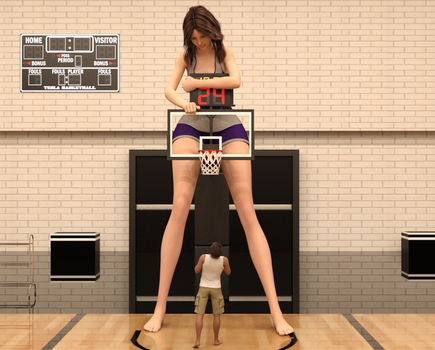 Amber at basketball 1 by stronggirlstory