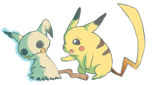 [Pikachu and Mimikyu] why are you crying? by Kristallschweif