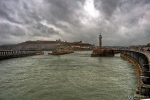 Whitby in the rain by Yupa