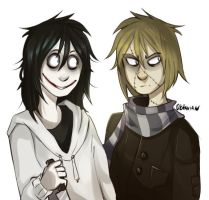 | Creepypasta Fanart| I'm not done with those two by 0ktavian