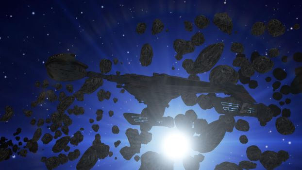 Klingon In The Asteroids by PUFFINSTUDIOS