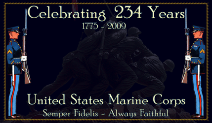 Happy 234th Birthday Marines by hank1