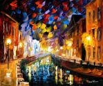 Night City by Leonid Afremov