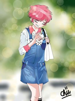 Overalls and Bubble Tea by toastedCroissants