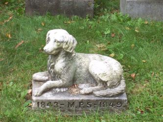 Dog at cemetary by Raggybabe