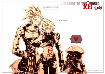 KH2: .hack Hearts by illbewaiting