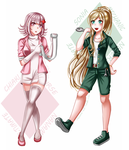 Ultimate Nurse Nanami and Ultimate Mechanic Sonia by Cleanne-chan