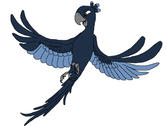 Genny as a blue macaw by heart8822