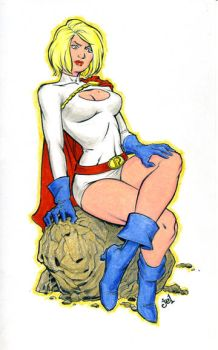 Powergirl Index Card by DoodleLyle