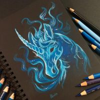 Unicorn patronus by AlviaAlcedo