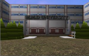 MMD University Stage Download by GLaDOS-Senpai