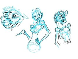 some little character doodles. by torokthetroll