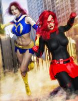 Mindy and Crimson - Steel City Sirens by CrimsonVlkyrie