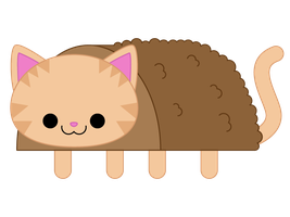 Meatloaf Cat by to-much-a-thing