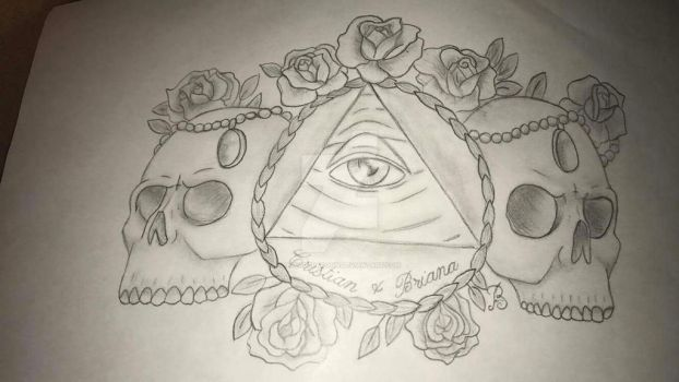Past tattoo design for an ex by pacoderacoon