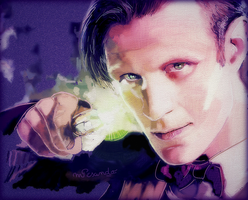 Matt Smith as The Doctor by BlueZest