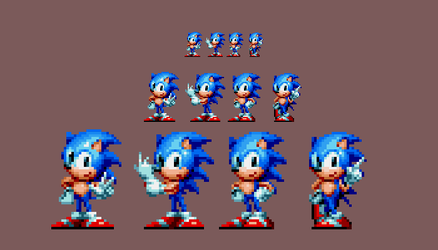 Other sonic poses in Mania style by DOA687