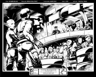 Starburn Issue 4 interior page - inks by Docolomansky