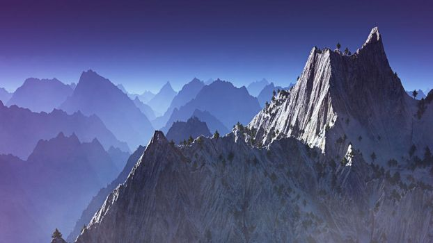 Jagged Mountains by BenHinman