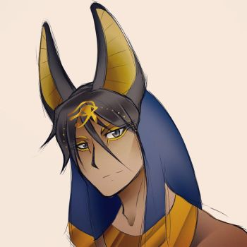 Anubis: Anime Character Design by Smudgeandfrank