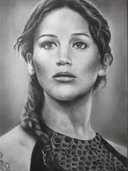 Katniss Everdeen drawing by KirstyPartridgeART