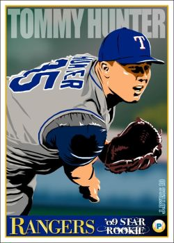 Tommy Hunter, Texas Rangers by jadyess