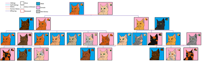 SquirrelLeaf Family Tree by Amberstorm233