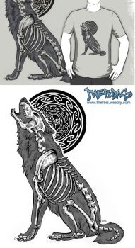 Celtic Moon Howl SHIRT by Therbis