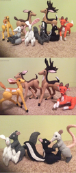 Forest Animals (felt dolls) by MichelleBergeron
