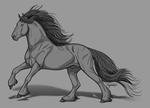 Heavy Horse Greyscale by Vizseryn