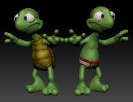 Turtle in Underpants. by dromens