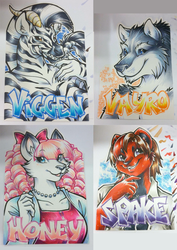Conbadges from 2013 by dizziness
