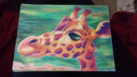 Giraffe in Pastels by jessijoke