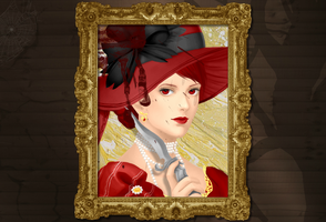 Madame Red Portrait Dress Up by AlexisYoko