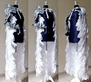 Angel Knight Cloak and armor by Pinkabsinthe