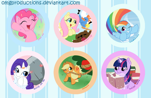 Mane 6 button set by OMGProductions