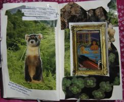 1st Altered Book 10, Favorites by angelstar22