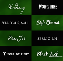 Font Pack #5 by Tekmile