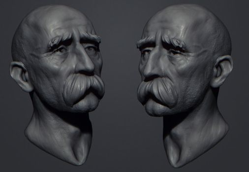 old guy mobile sketch by polyphobia3d