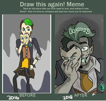 Before and After meme pt II by GreyHood-Productions
