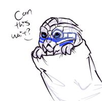 ME: Garrus in a sock by AnimeAntie