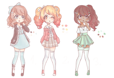 Closed|Auction| chibi point adoptables! by ItsCatilda
