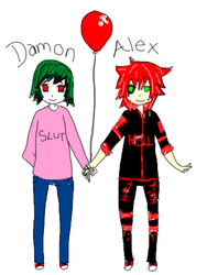 . : Damon and Alex : . by xEskimoKissesx