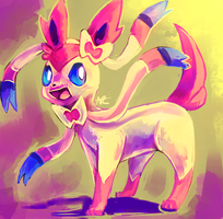 Ninfia! / Sylveon! by MusicalCombusken
