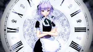 Ingame Re-creation Sakuya Izayoi SWR 16:9 by headstert