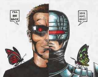 The Terminator vs. Robocop by Rems12