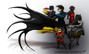 Modern Bat Family by ArtistAbe