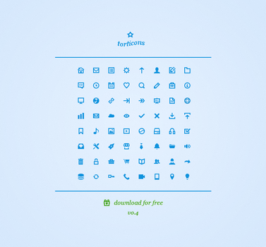 Torticons [v0.4] - 16px Web Icons Freebie by ToRTeEn