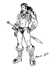 Warrior Sketch by marcos-prl