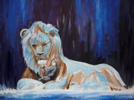 Aslan and Lucy by lpschnzr2